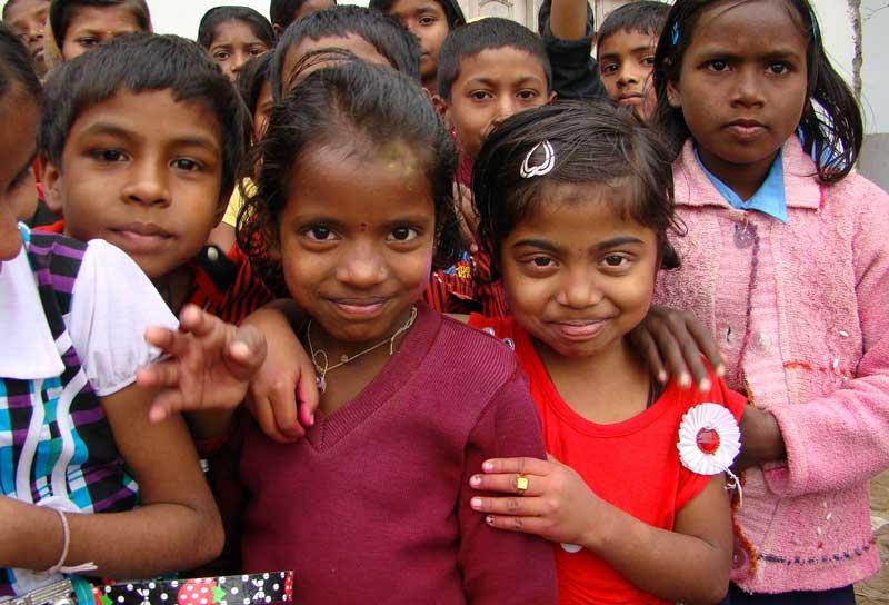 Enfants indiens de l'École Shanti India