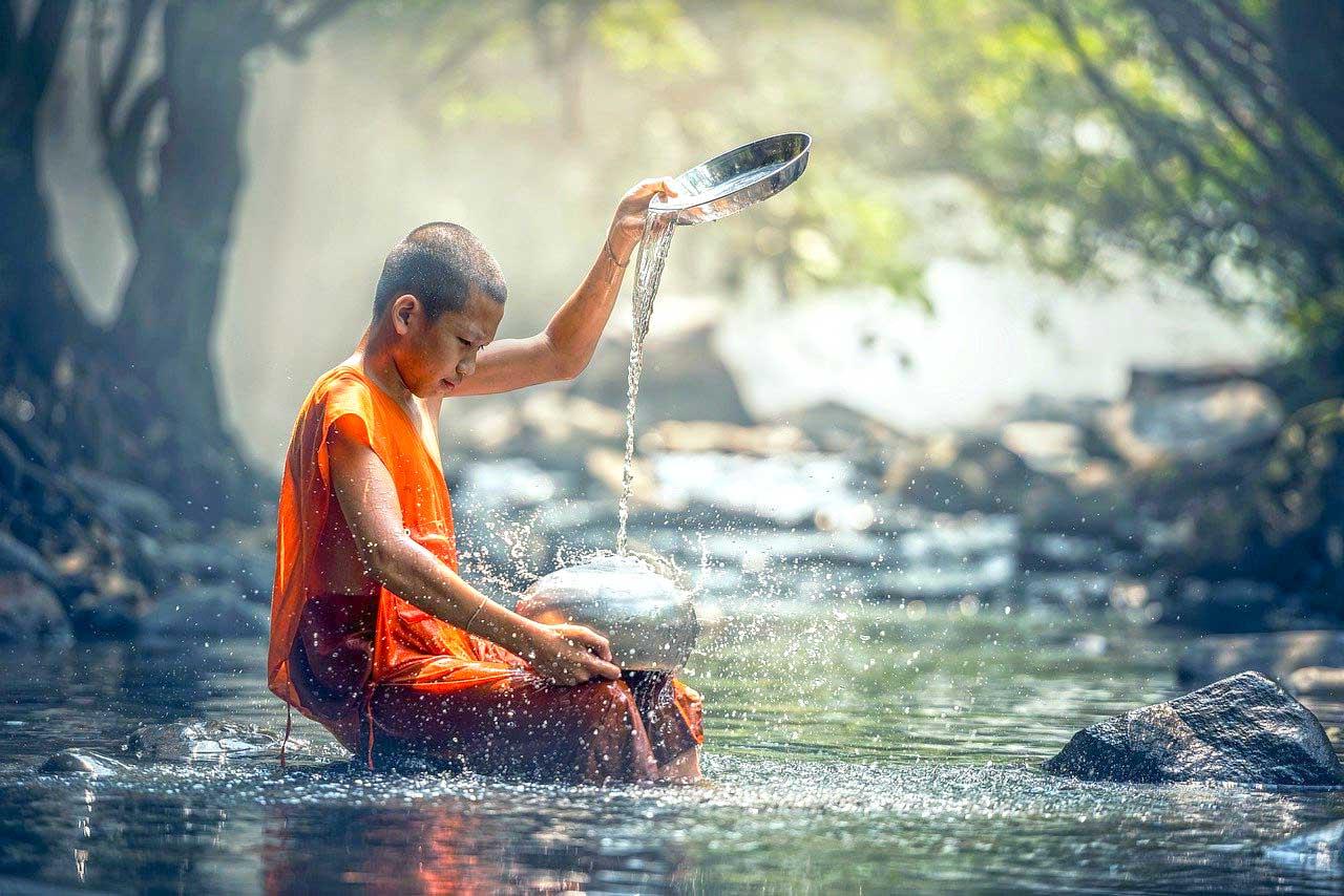 Méditation avec l'eau
